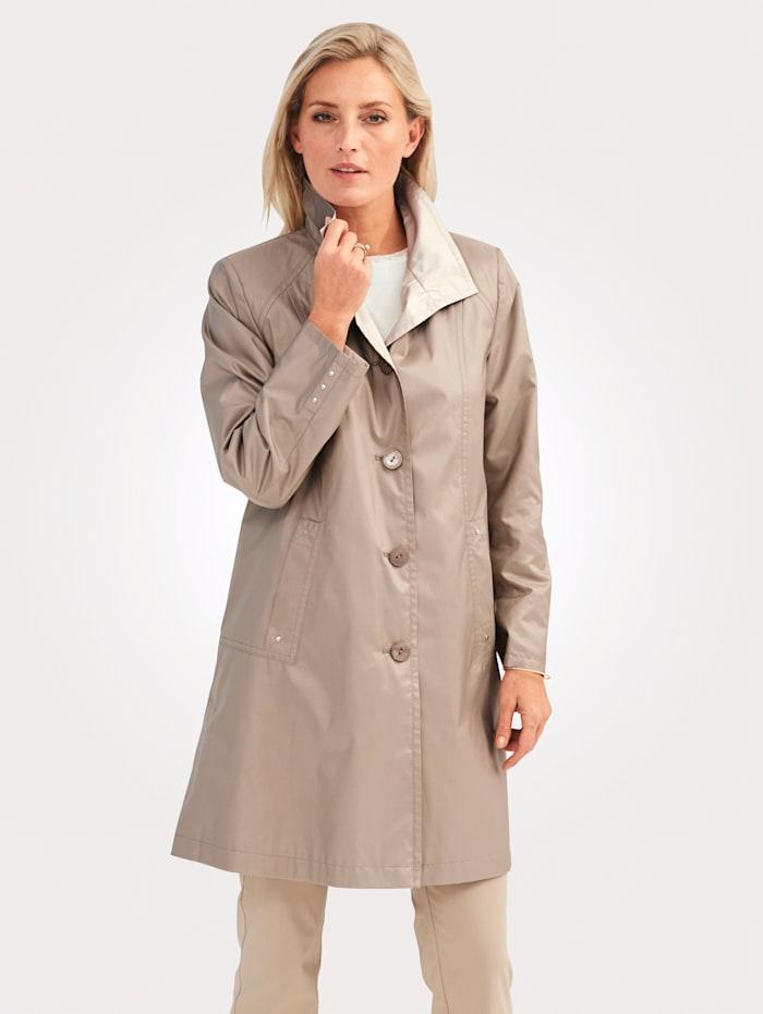 MONA Manteau en microfibre soyeuse, Sable