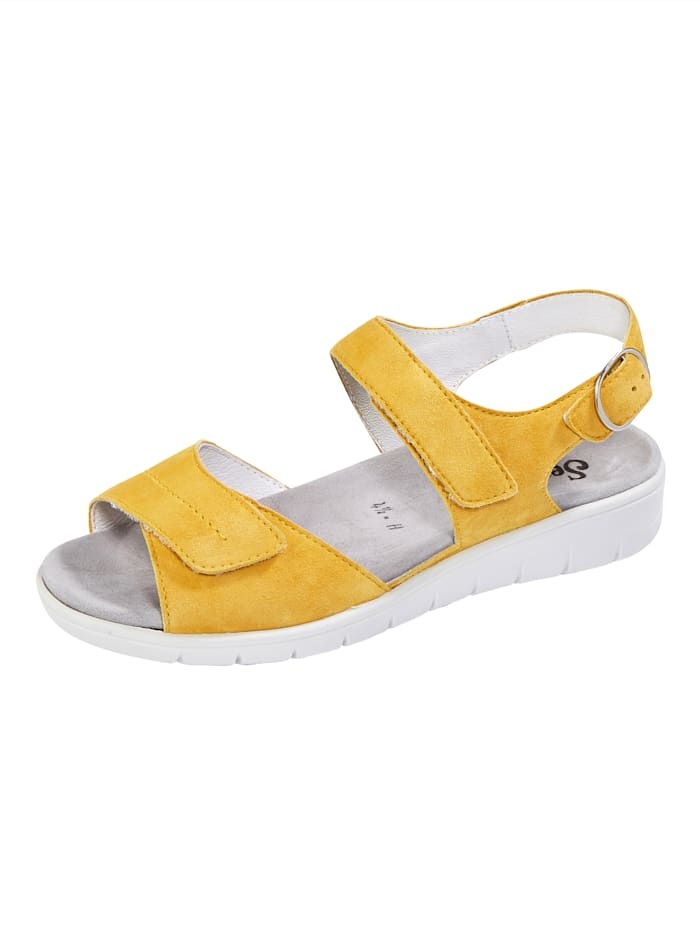 Semler Sandale mit Luftpolsterlaufsohle, Gelb