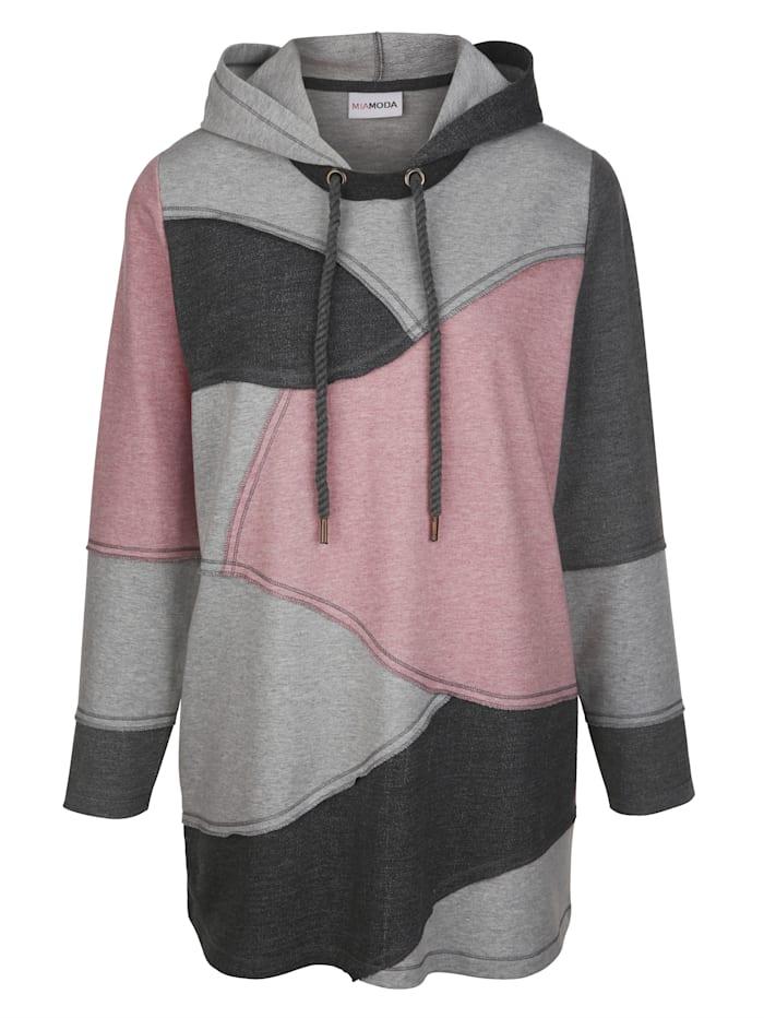 Sweatshirt im Patchmuster