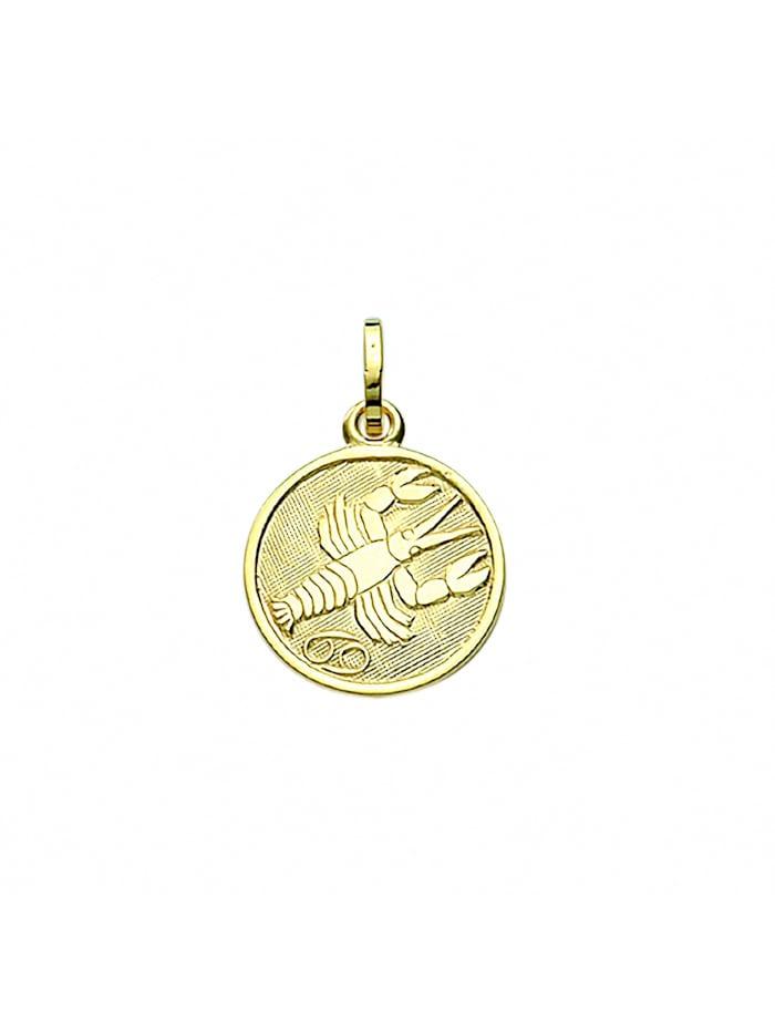 1001 Diamonds Damen & Herren Goldschmuck 333 Gold Sternzeichen Anhänger Krebs Ø 11,8 mm, gold