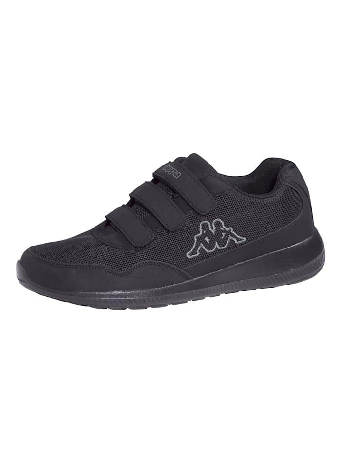 Kappa Sneaker met klittenband, Zwart