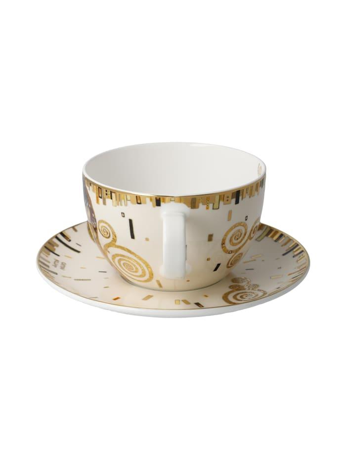Goebel Tee-/ Cappuccinotasse Gustav Klimt - Der Kuss