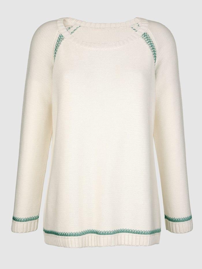 Pullover mit Kontrastfäden