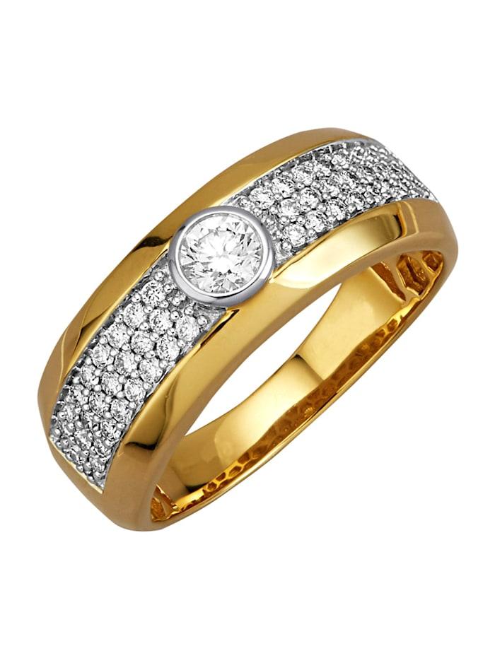 Diemer Diamant Damenring mit Brillanten, Gelbgoldfarben