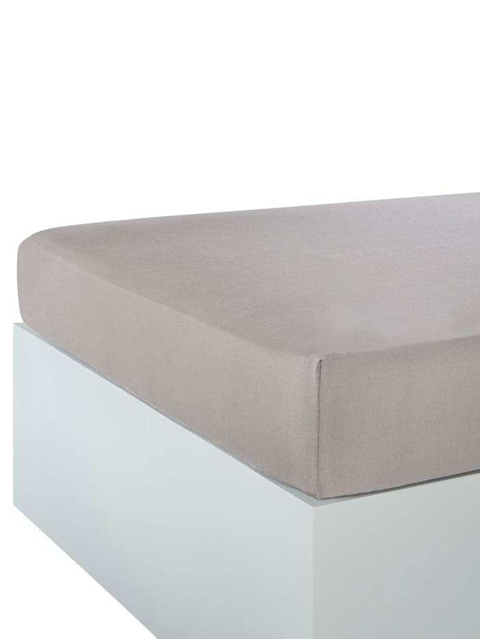 Webschatz Jersey Spannbettlaken, grau