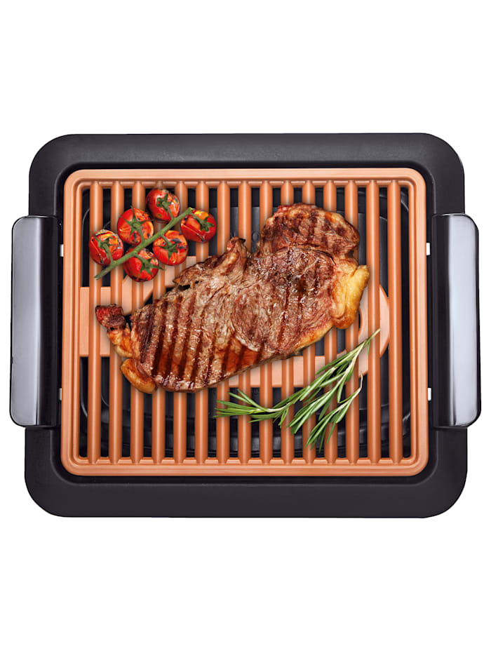 MediaShop Barbecue d'intérieur sans fumée Livington Smokeless Grill, Noir