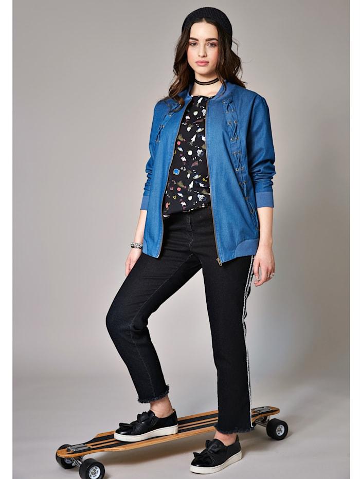 Jeansjacka med dragkedja