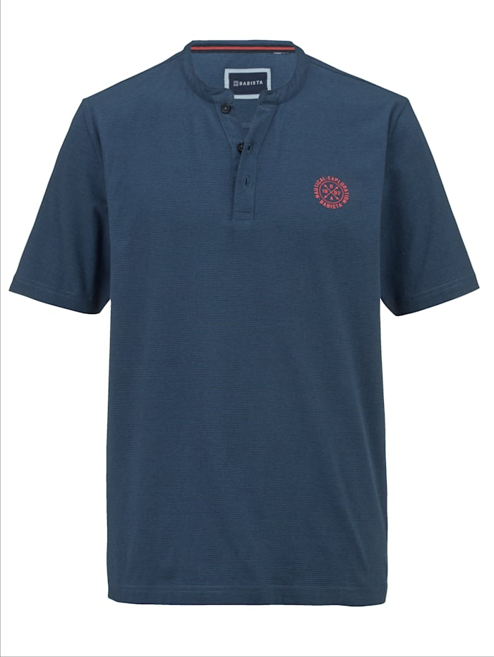 BABISTA Shirt met fijn streepdessin, Blauw