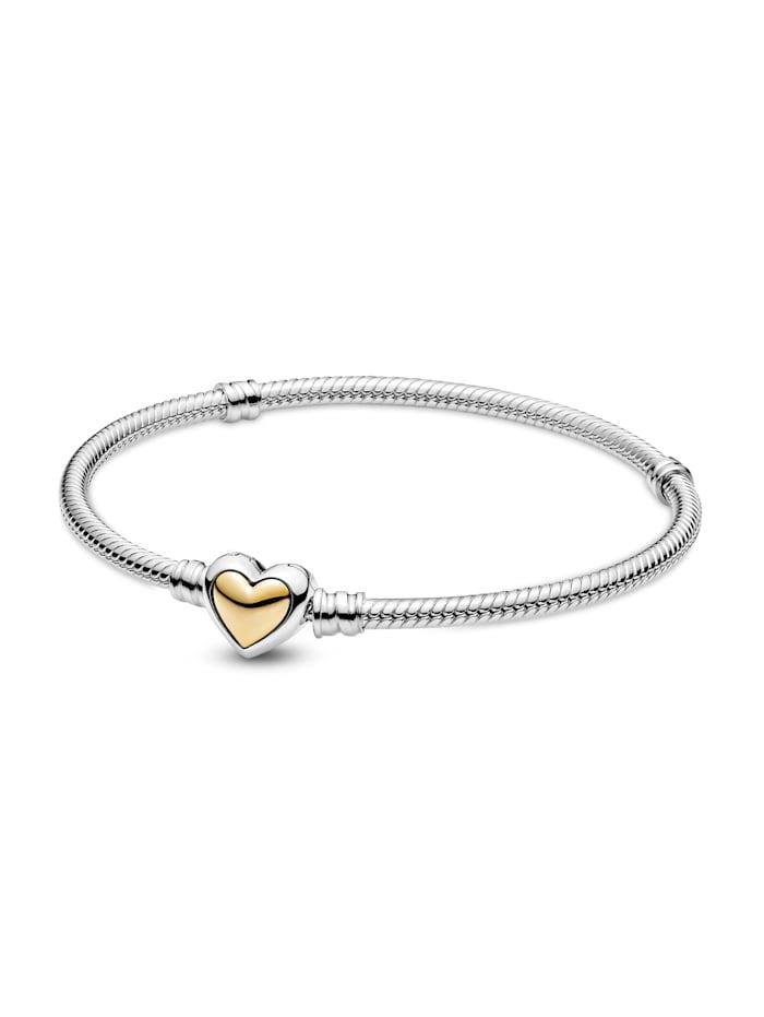 Pandora Armband -gewölbtes goldenes Herz- 599380C00, Gelbgoldfarben