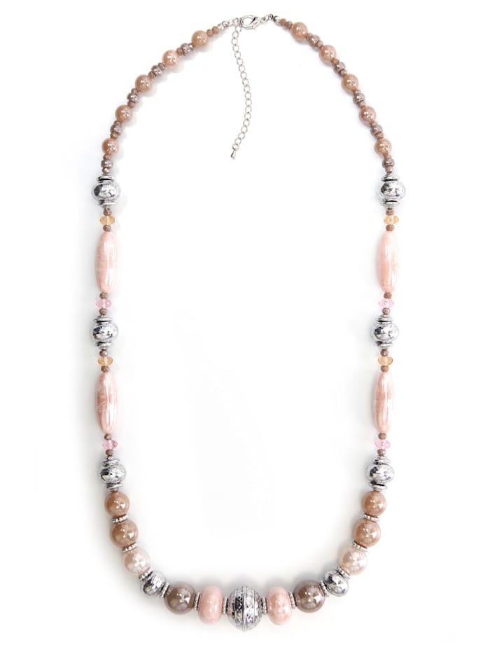 Lange Kette Cynthia mit schimmernden Perlen mit perlmutt schimmernden Perlen