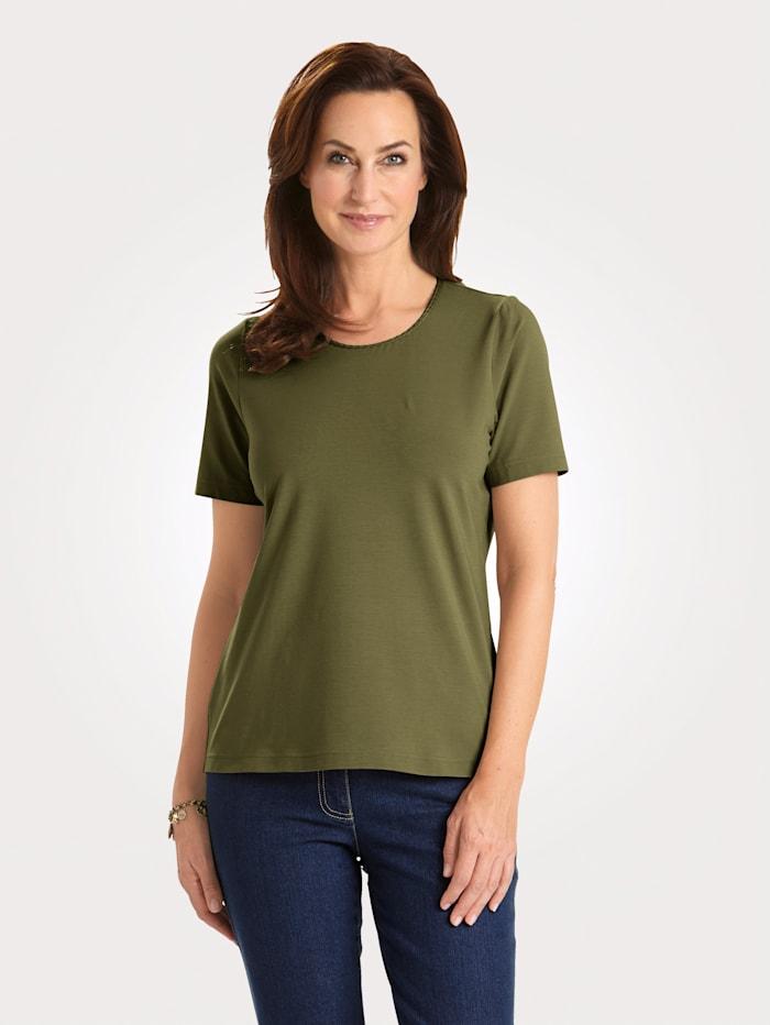 MONA Shirt mit Pima Baumwolle, Oliv