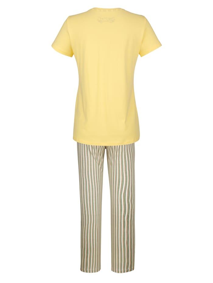 Schlafanzug mit kontrastfarbenem Dehnbund