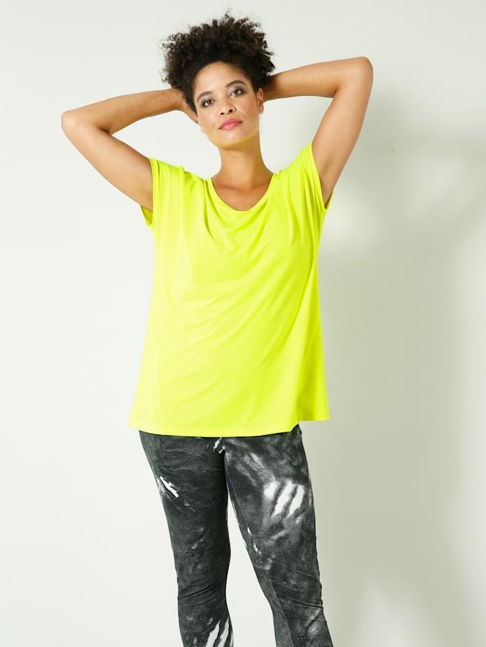 Janet & Joyce Funktions-Shirt im sportiven Style, Neongrün