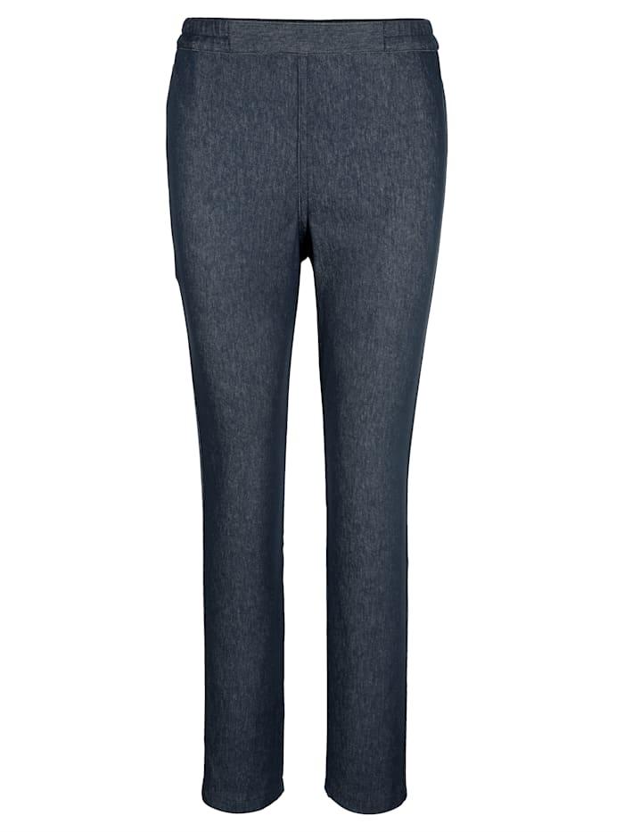 Keerbare jeans met bloemenprint