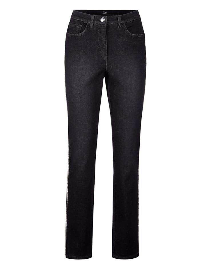 Fodrade jeans med värmande insida
