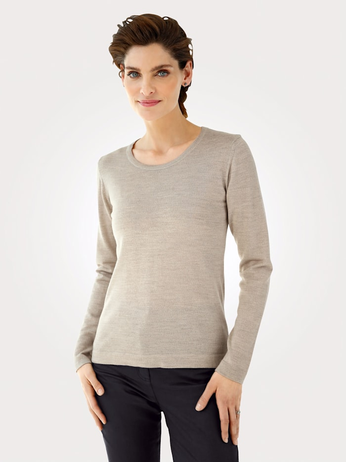 MONA Jumper made from pure Merino wool, Beige