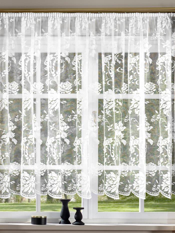 Gardin med rosemønster