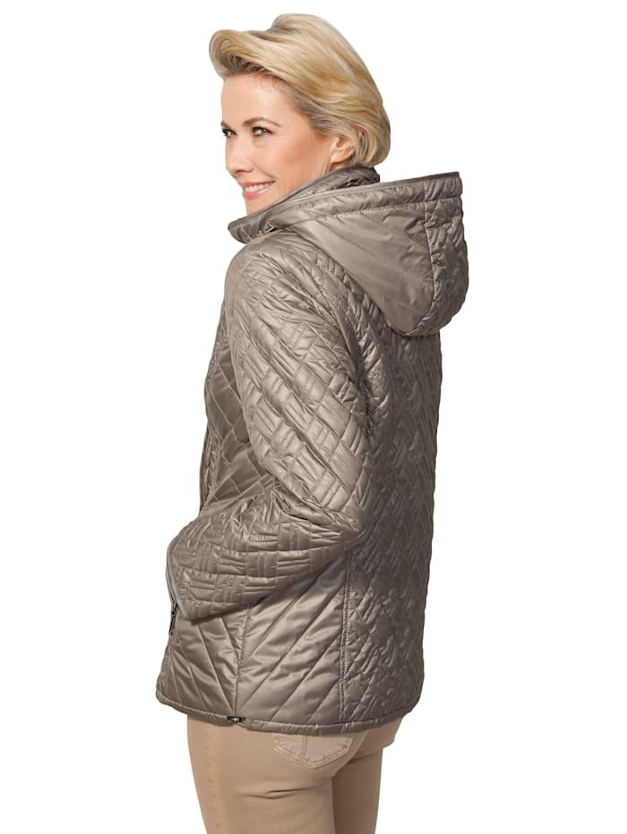 Gewatteerde jas met afknoopbare capuchon