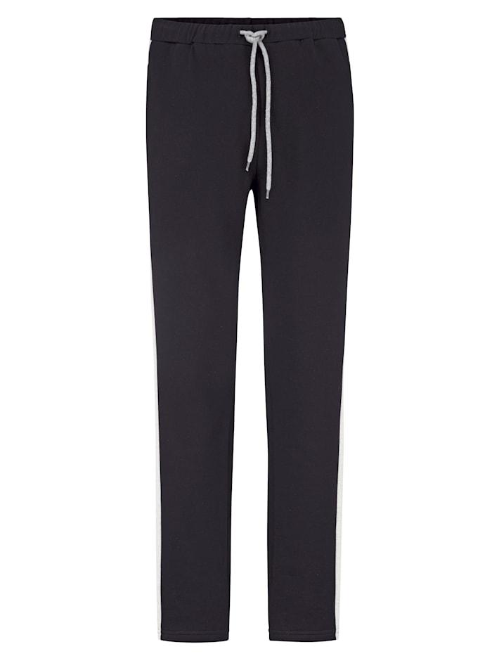 Men Plus Jogginghose aus reiner Baumwolle, Marineblau/Grau