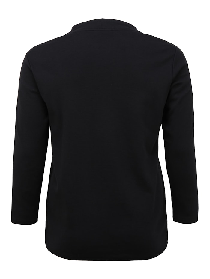 Langarmshirt mit Stehkragen Dekorative Reißverschlüsse