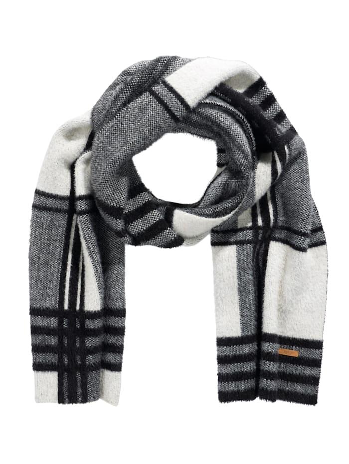 Barts Schal, schwarz-weiß