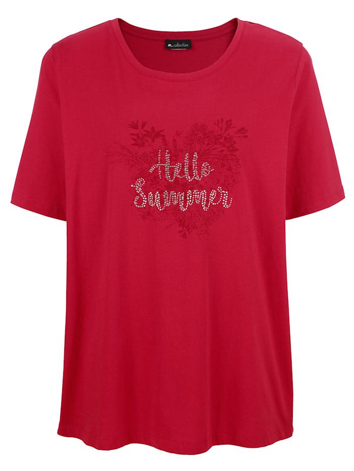 m. collection Shirt aus reiner Baumwolle, Rot
