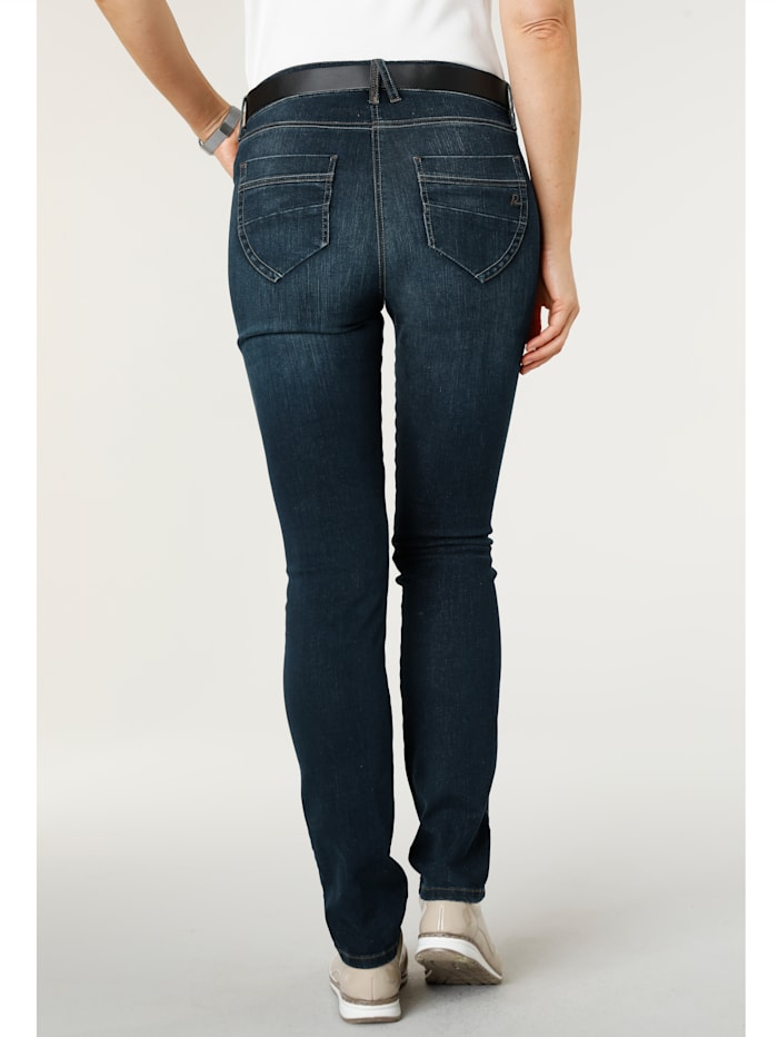 Jeans with bead detailing