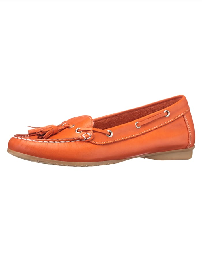 Moccasins made from leather