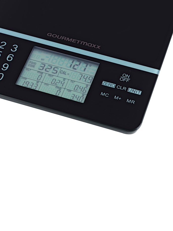 GOURMETmaxx GOURMETmaxx digitale Küchenwaage 'Foot Control', schwarz