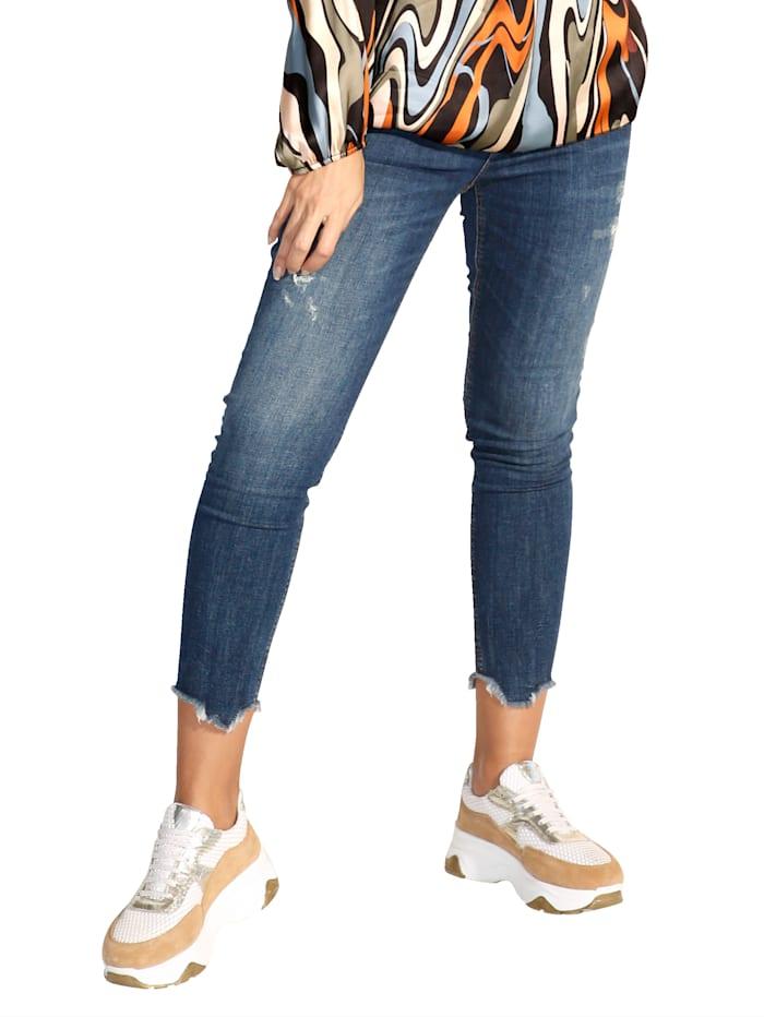 Public Jeans mit modischem Used-Look, Blue bleached