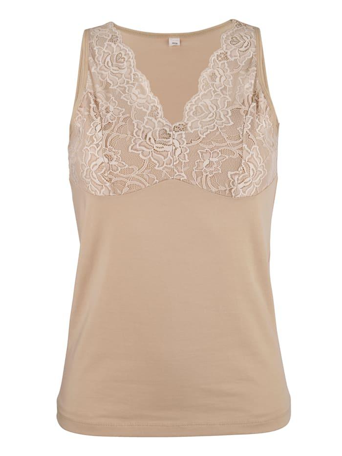 Harmony Bh-hemdje uit de 'Cotton made in Africa'-collectie, Nude
