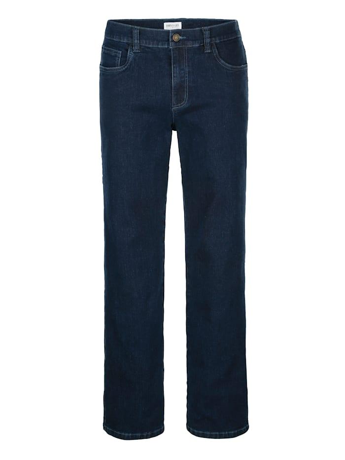 John F. Gee Jeans in een comfortabele pasvorm, Dark blue