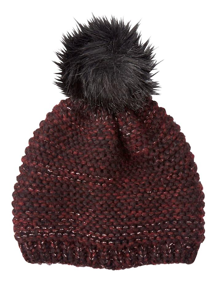 MONA Mütze, bordeaux-schwarz