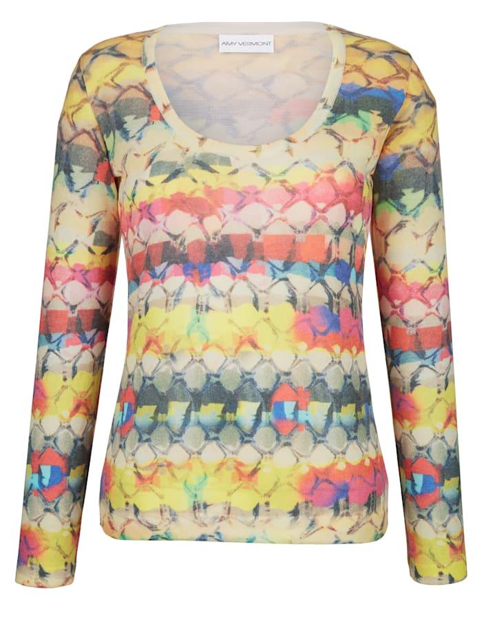 Pullover mit buntem Snake-Print