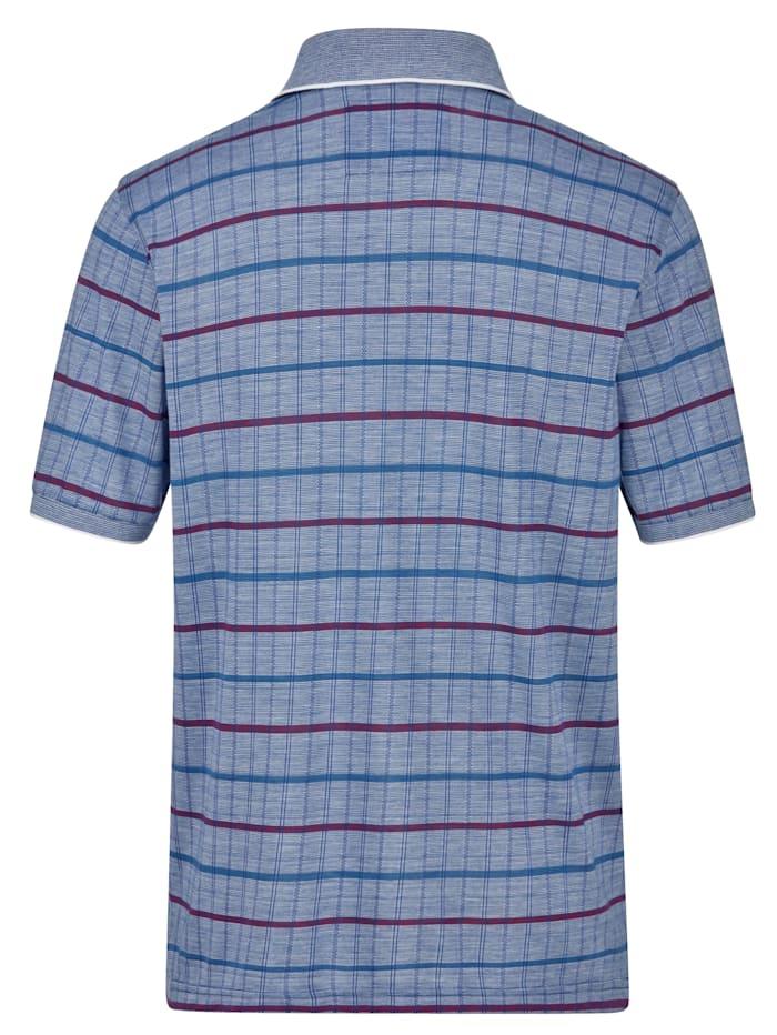 Poloskjorte med enestående jacquardmønster