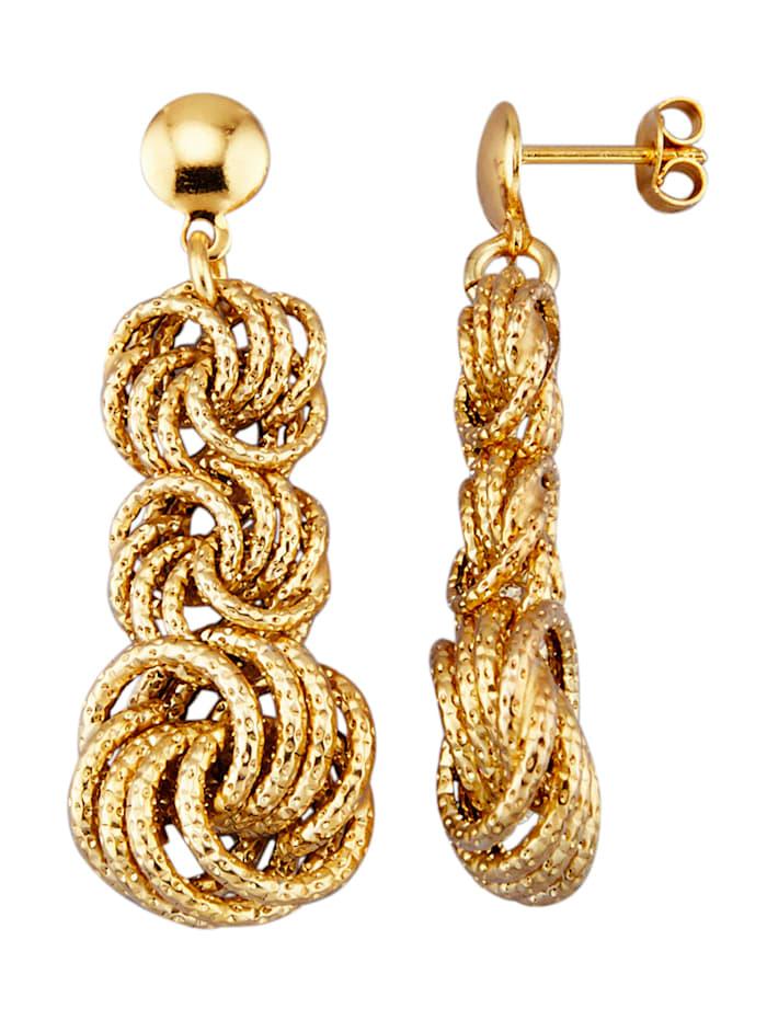 Boucles d'oreilles en or jaune 585, Coloris or jaune
