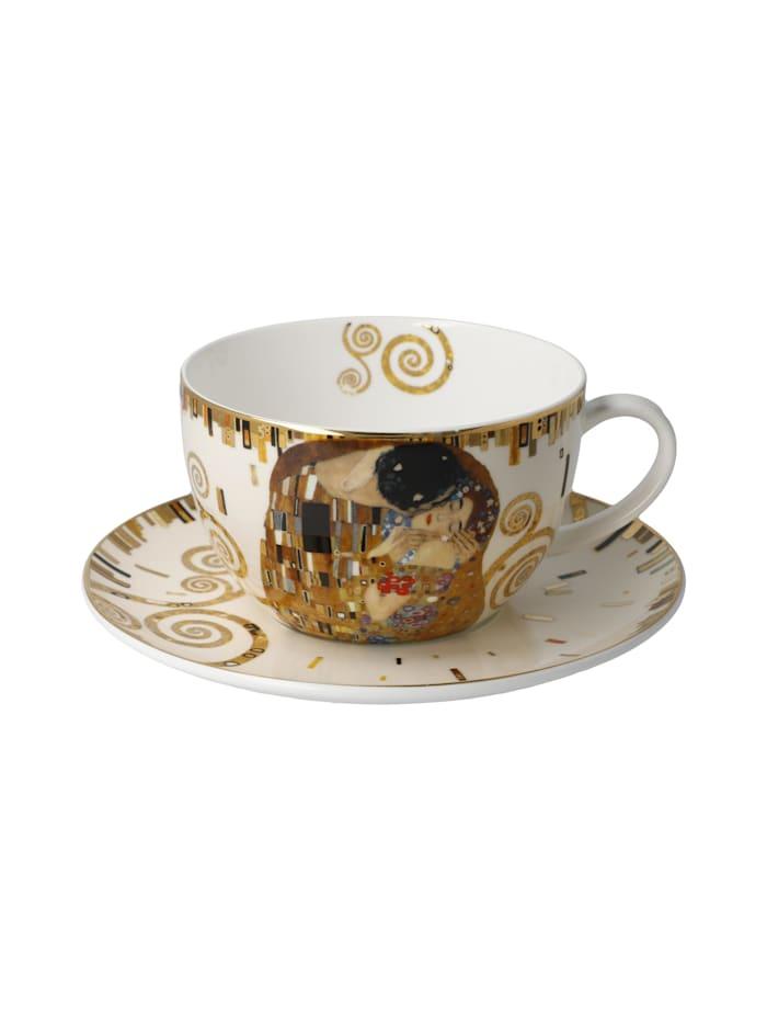 Goebel Goebel Tee-/ Cappuccinotasse Gustav Klimt - Der Kuss, Klimt - Kuss