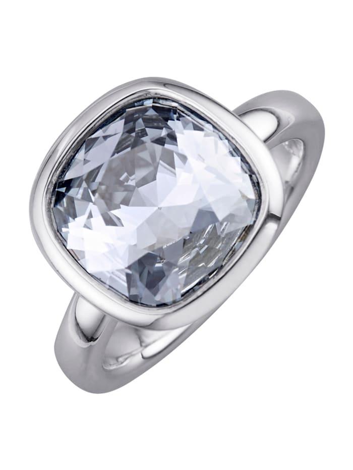 Yvette Ries Damesring met kristal, Blauw