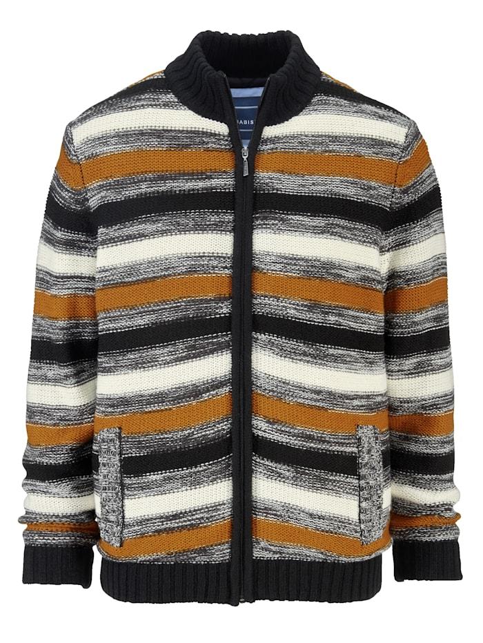 BABISTA Vest met scheerwol, Ecru/Antraciet/Cognac