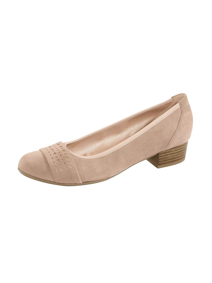 Naturläufer Court shoes with gold-tone detailing, Beige