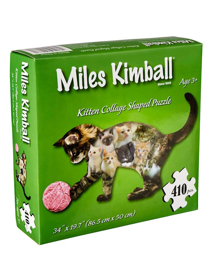 Konturen-Puzzle 'Katze', Multicolor