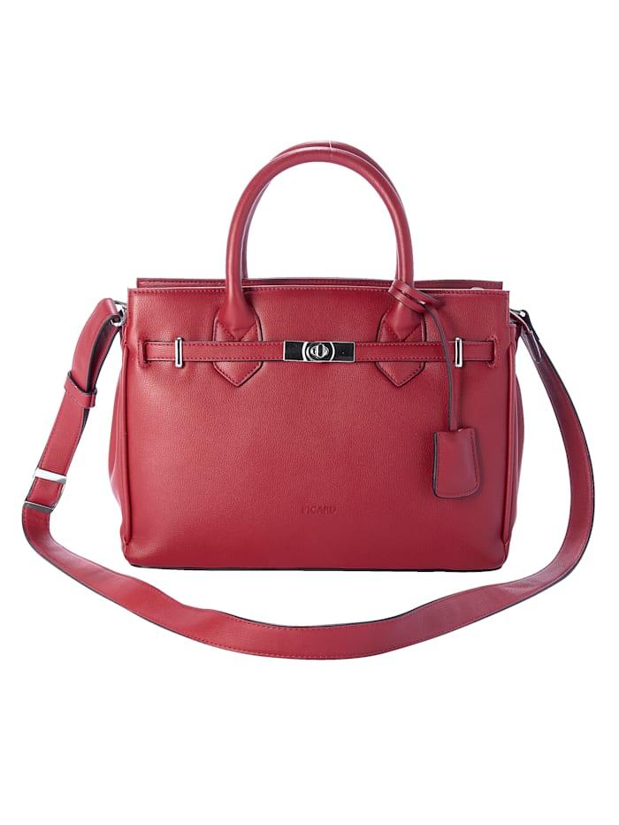 Picard Handtasche mit Zierband und Drehverschluss, Rot