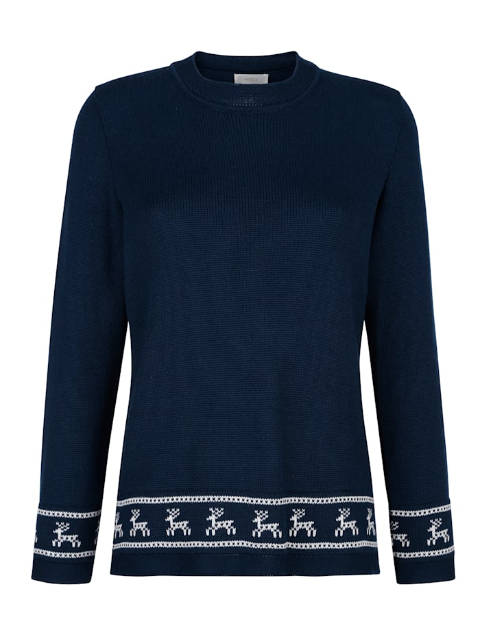 Jumper with a border pattern
