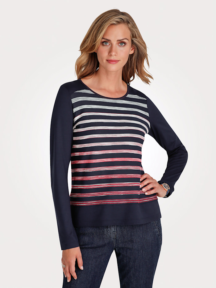 Top Embroidered stripes
