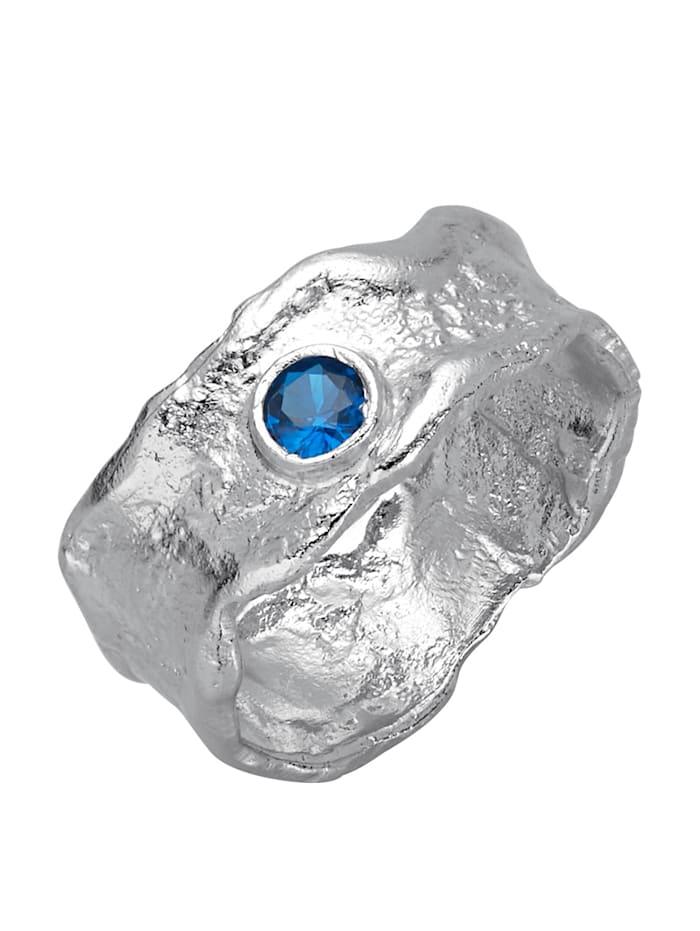 Damenring mit Spinell, Blau
