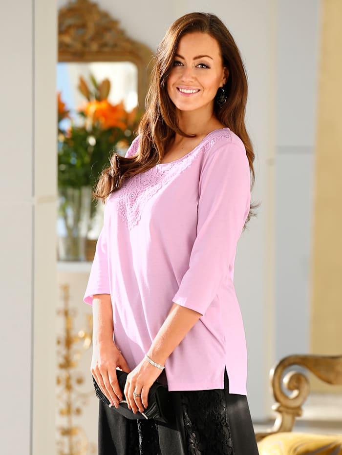 m. collection Shirt van comfortabele jersey, Roze