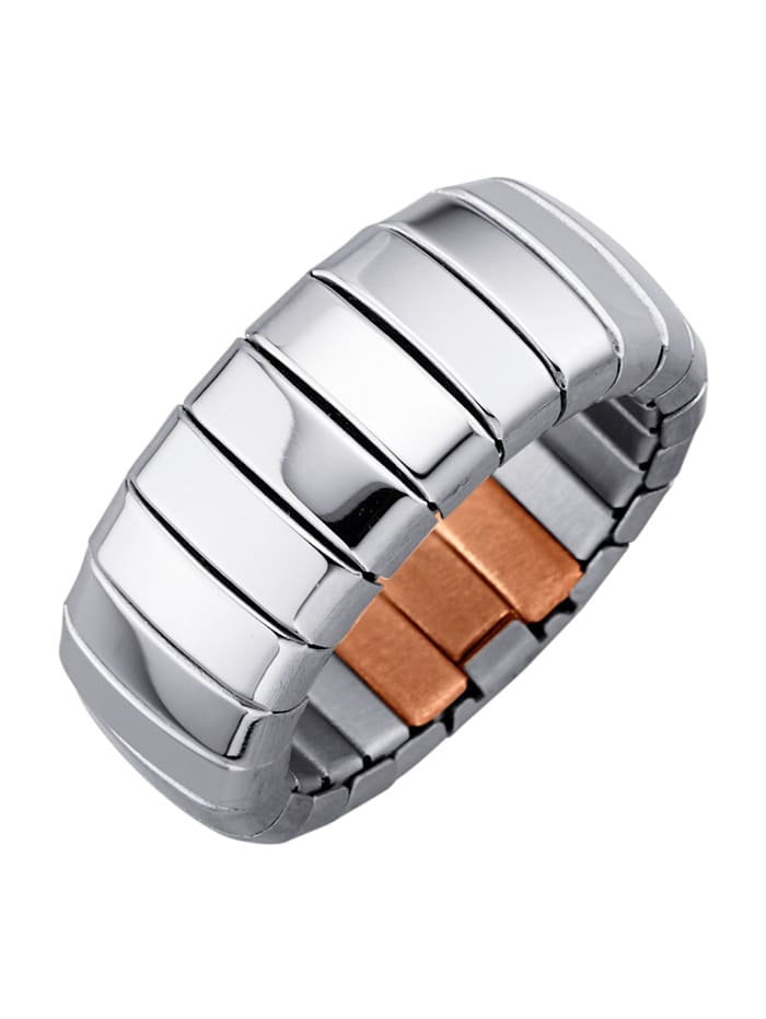 Magnetic Balance Bague dame, acier inox, Coloris argent