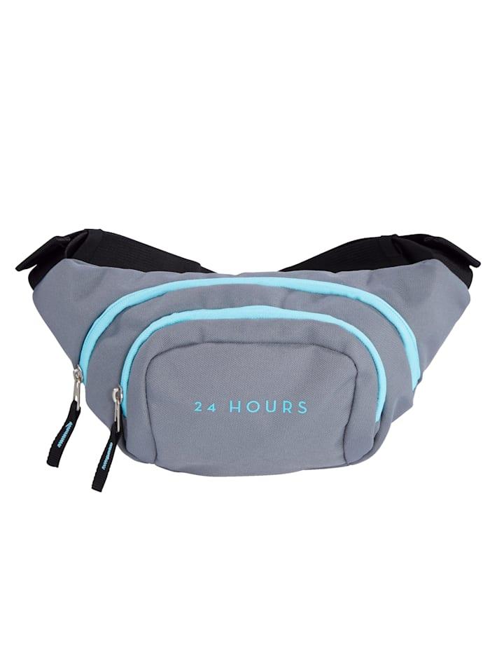 24 Hours Hüfttasche aus hochwertigem Textilmaterial, Grau/Hellblau