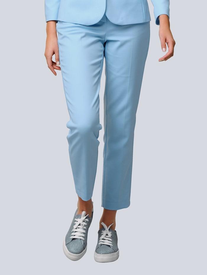 Alba Moda Hose mit Bügelfalten, Hellblau