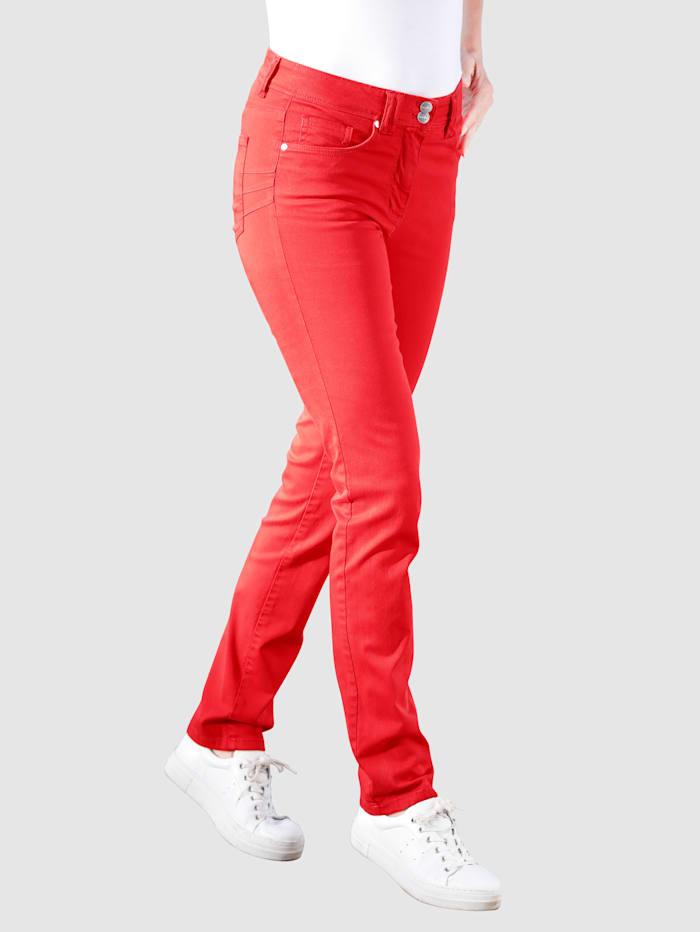 Dress In Byxor i klassisk 5-ficksmodell, Röd